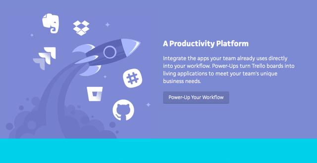 Trello dashboard - a productivity platform