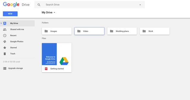 Screen Shot Google Drive - online storage solution for teams at work