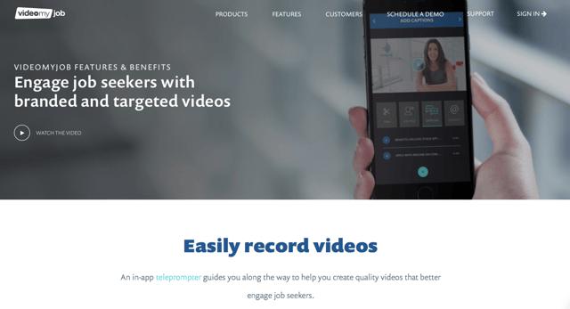 Screen Shot VideoMyJob website - video job ads