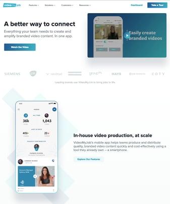 VideoMyJob homepage