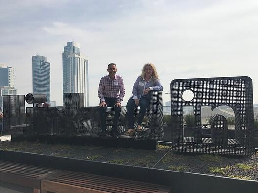 Dave and Kristen at LinkedIn headquarters in SF